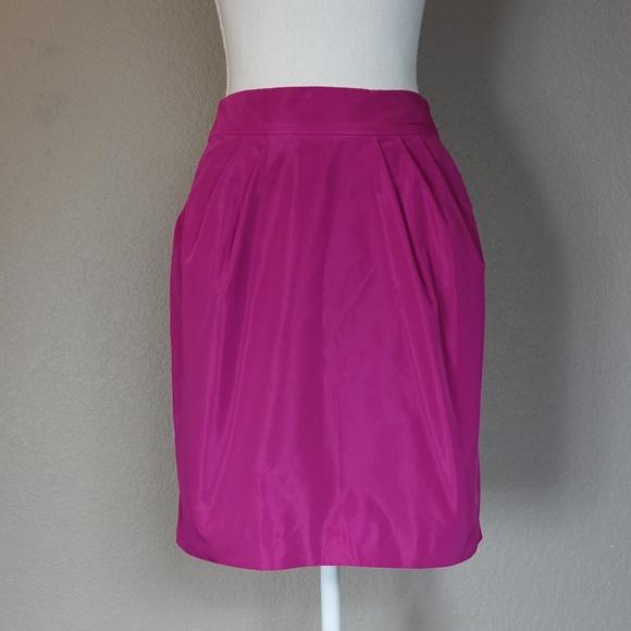 Banana Republic Dresses & Skirts - Banana Republic Pink Magenta Taffeta Pleat Skirt